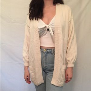 Sweaters - Vintage cream cardigan